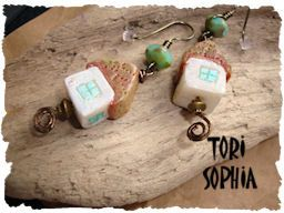 Cottage in the Woods Earrings  AJE03. $20.00, via Etsy.