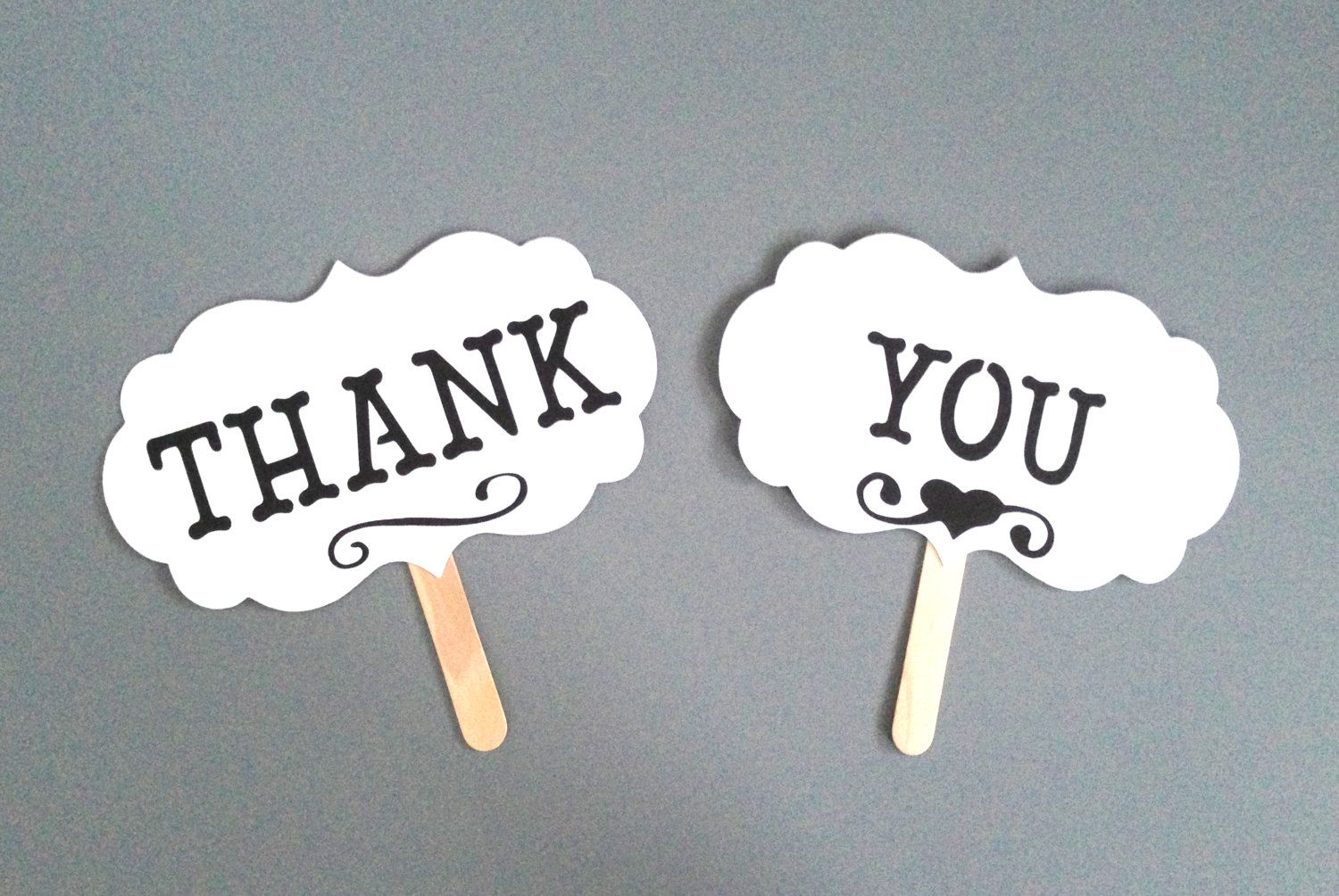 wedding photo booth props printable%0A THANK YOU Photo Prop Photo Booth Props Set by CreativeButterflyXOX    via  Etsy