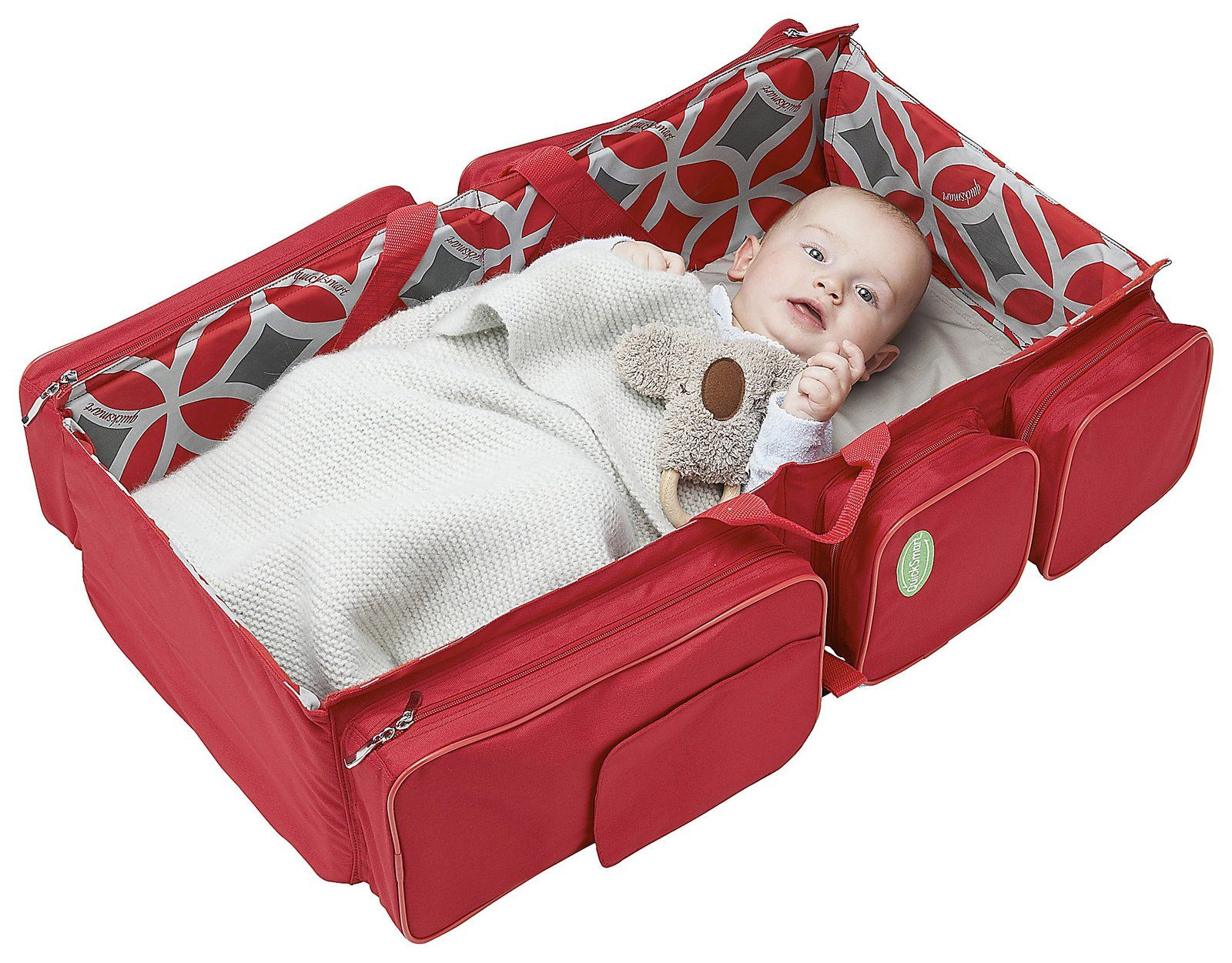 Portable folding bed in a bag - Quicksmart Convertible Travel Bassinet And Diaper Bag