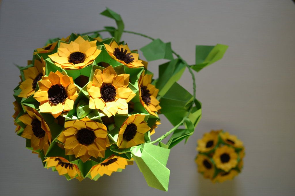 Origami Sunflower By Cridiana On Deviantart Random Yet Awesome