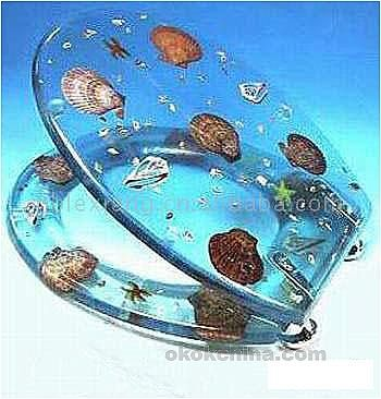 Plexiglass toilet seat with shells  I feel like my toilet will help remind me of my hawaii trip  . Tropical Fish Toilet Seat. Home Design Ideas