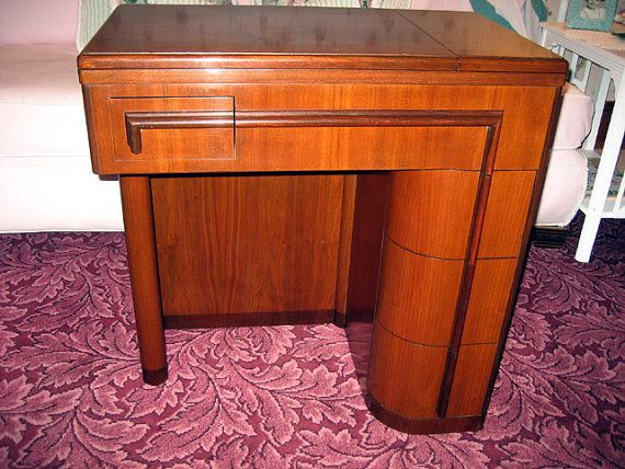 Beautiful Singer Art Deco style sewing cabinet. I'm always looking ...