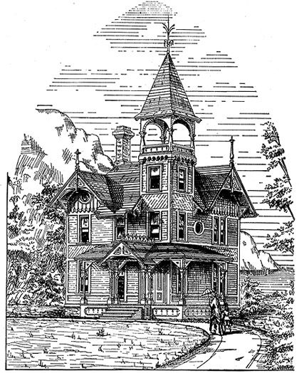 Victorian Basement: Victorian Cottage Plan From 1877