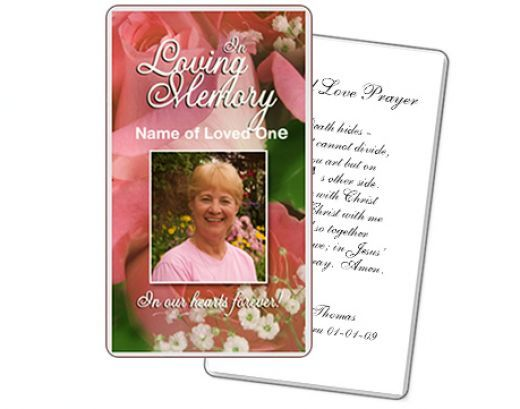 A Customizable Funeral Prayer Card Template Created By The Funeral - Funeral prayer cards templates