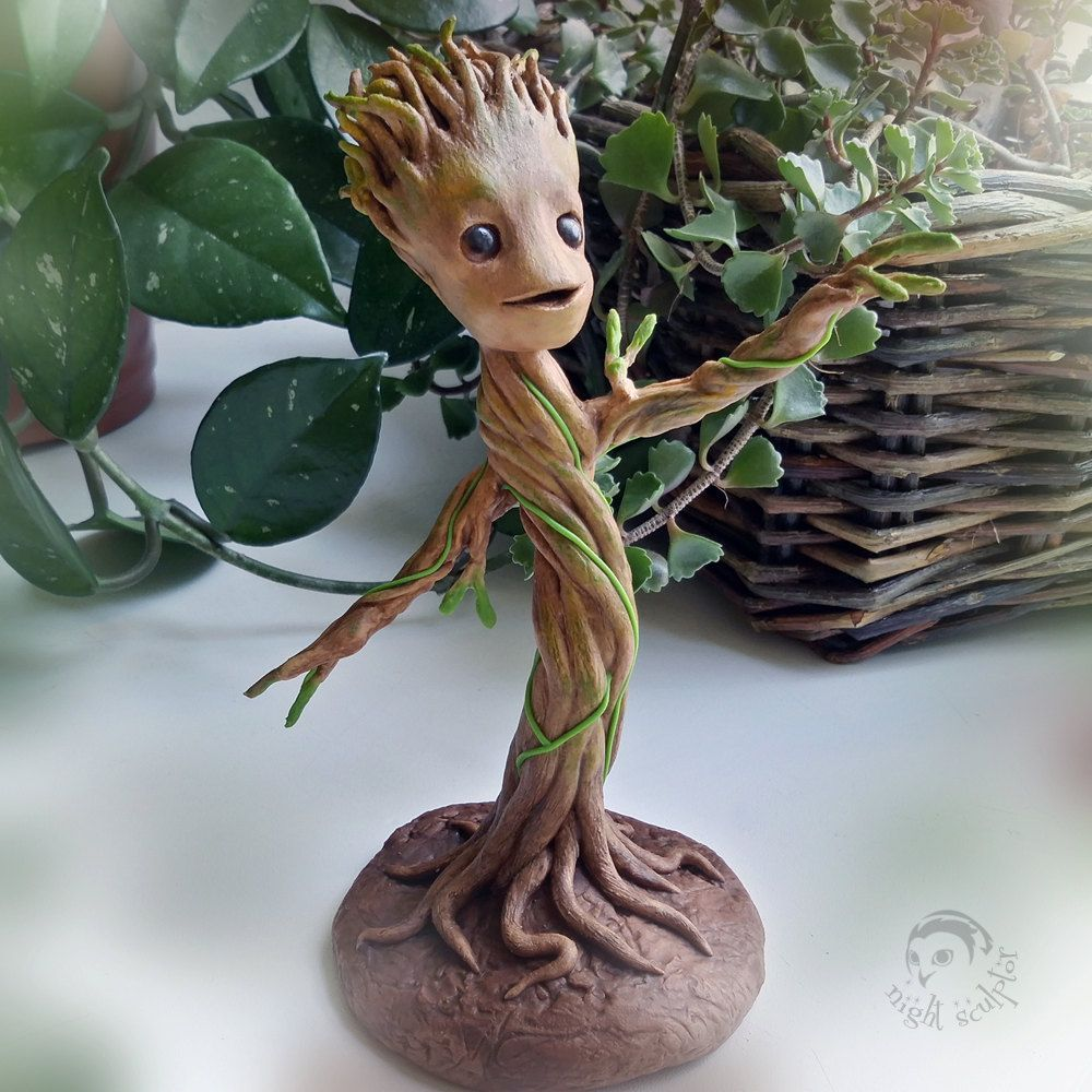 Amazon Anime Porn 50Ft reserved for albastick - baby groot - handmade figurine made
