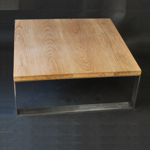 Table Basse Design Hubic Blanche Mate Et Chene Table Basse Blanche Et Bois Table Basse Table De Salon