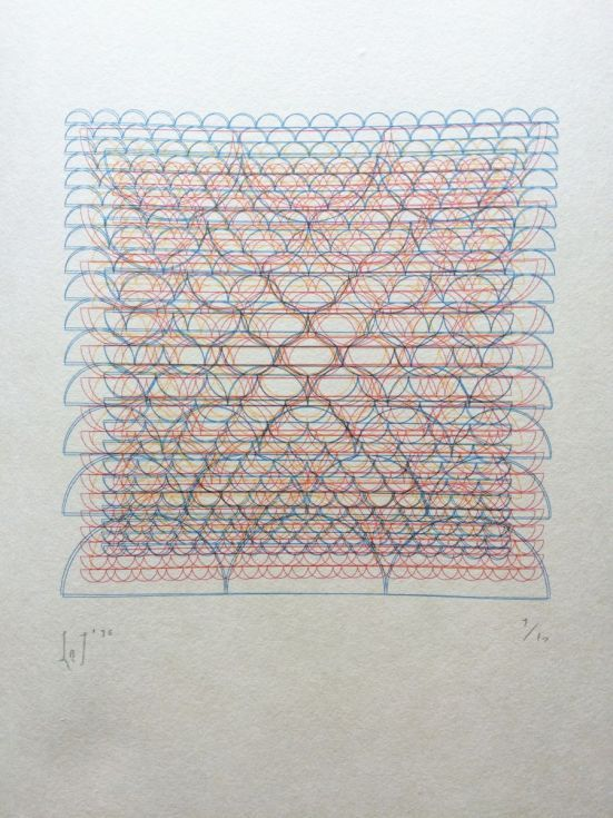 6 layer Risograph printed onto Atsukuchi paper a lightweight yet - print lines on paper