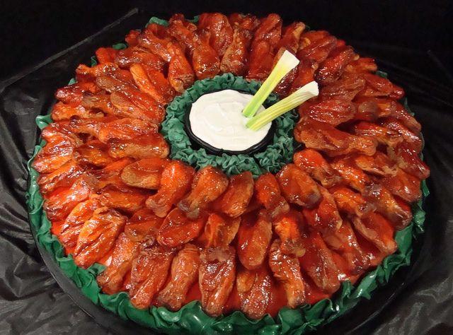 0d buffalo wings platter cake by debbiedoescakes via flickr