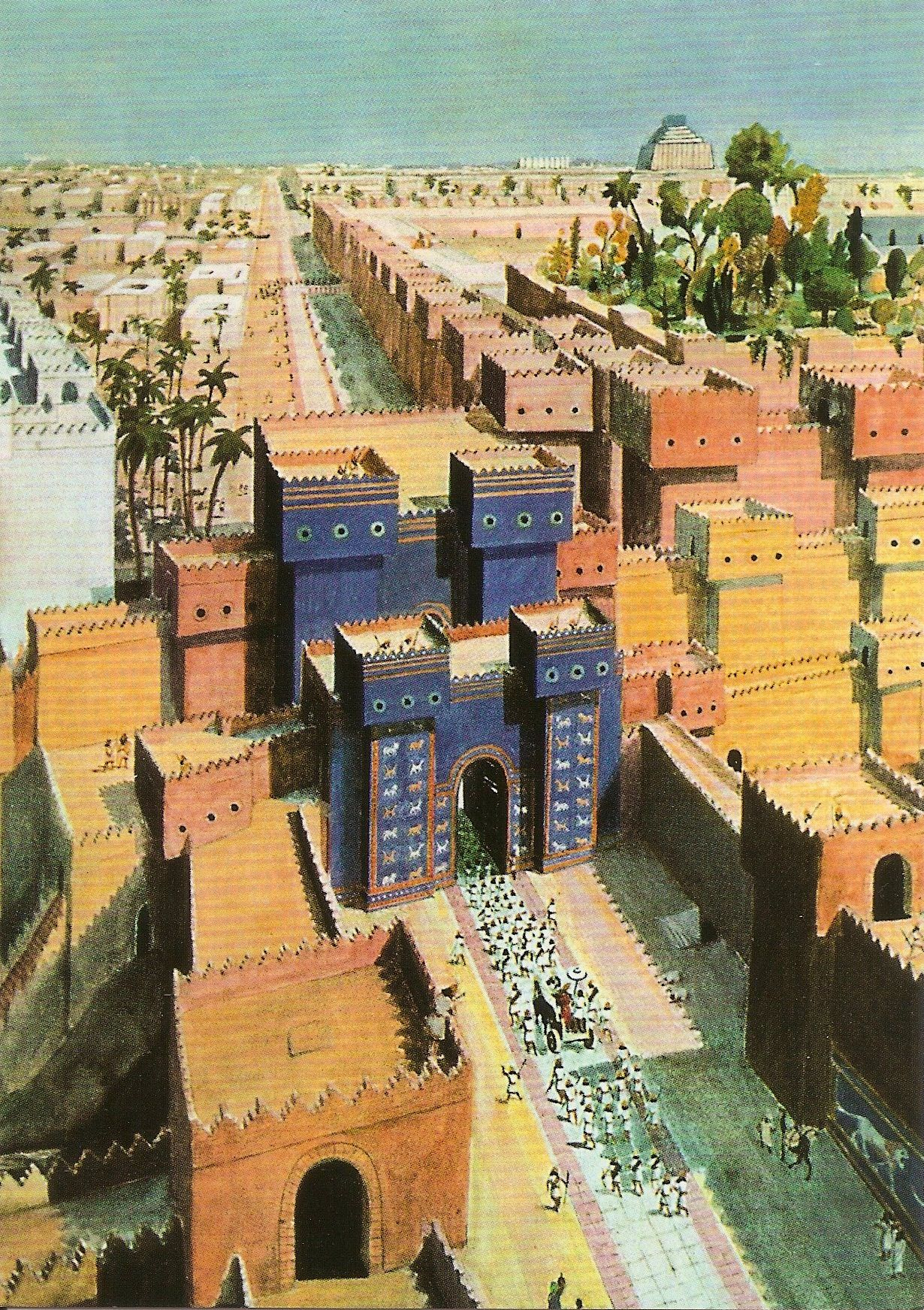 Walter Anger Babylon Looking For Ishtar Gate Including The Processional Way 1927 Watercolor Ancient Babylon Babylon City Babylon