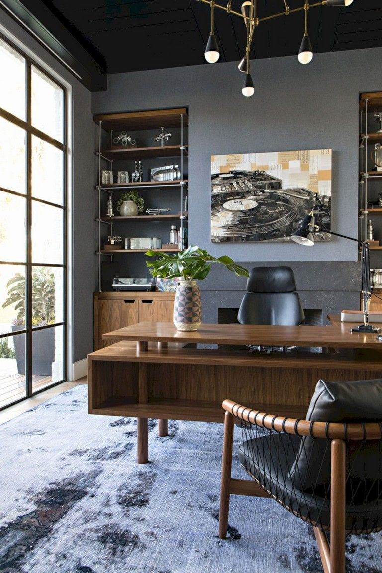 40+ Stunning Vintage Home Office Decoration Ideas images