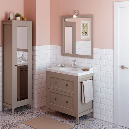 Mueble de lavabo ASHLEY gris - Leroy Merlin [baño dormitorio] | Casa ...
