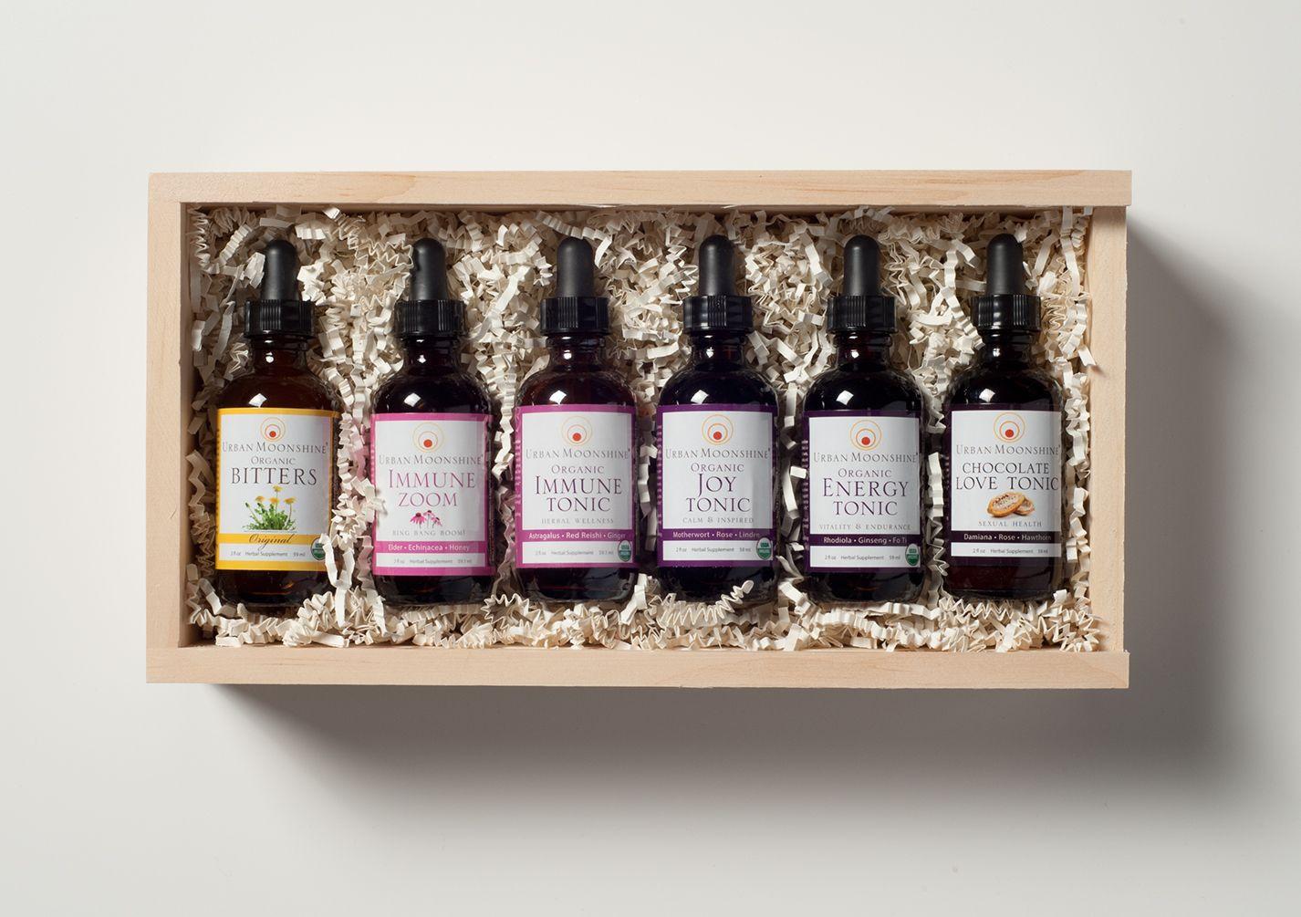 Everyday apothecary wooden box set urban moonshine
