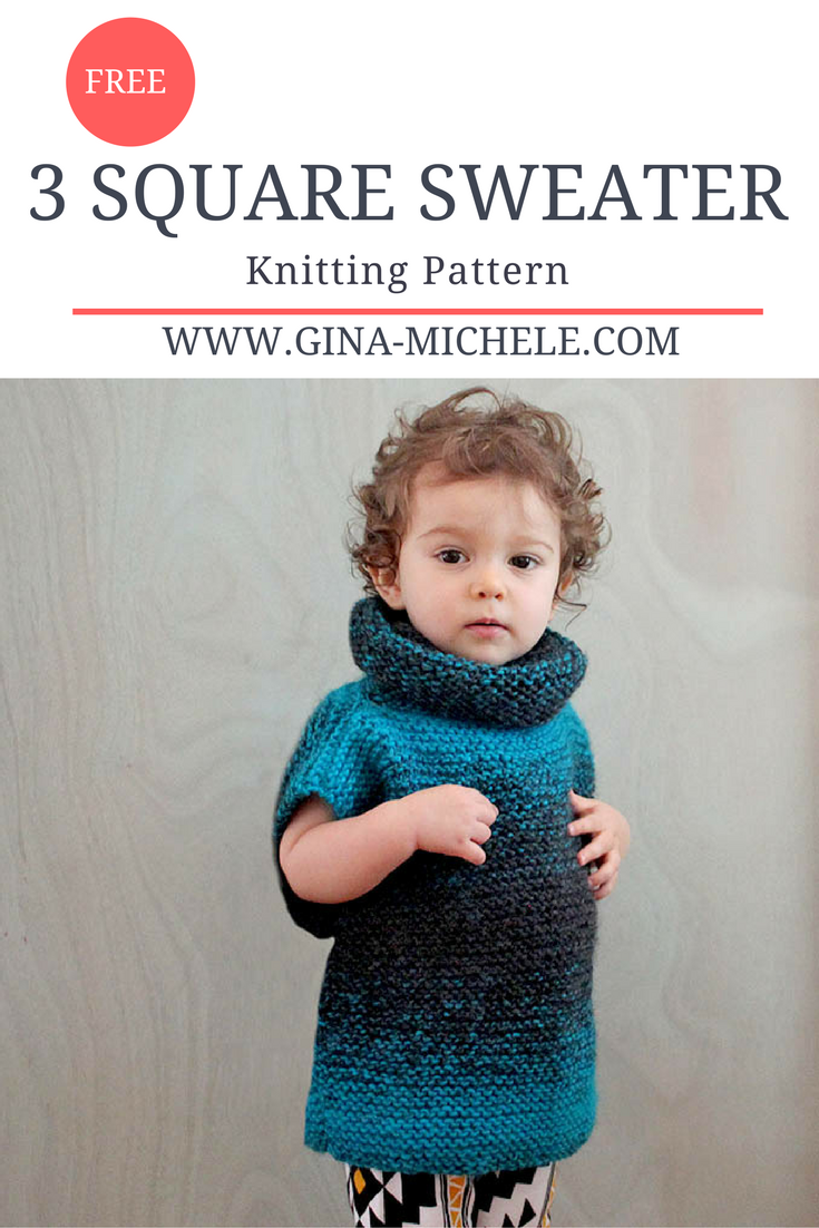 Super Easy 3 Square Child\'s Sweater [knitting pattern | Knitting ...
