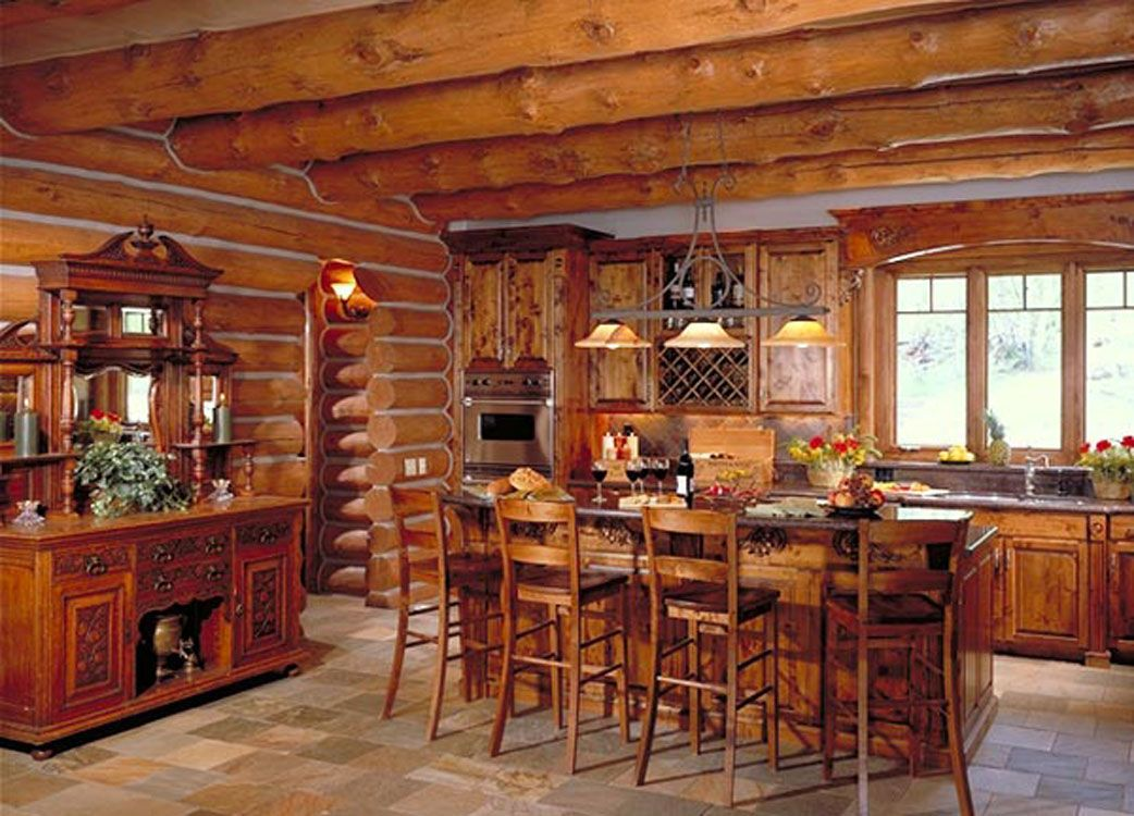 Lifeline interior dark natural log home stain and perma for How to stain log cabin