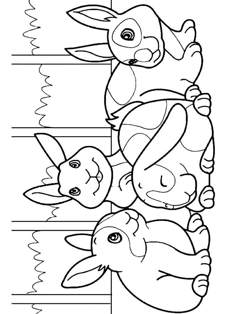 Free Printable Easy Bunny Coloring Pages Free Coloring Sheets Bunny Coloring Pages Cartoon Coloring Pages Animal Coloring Pages
