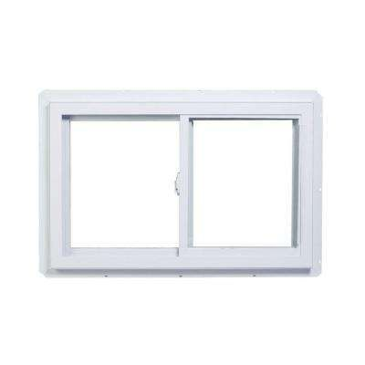 Above Kitchen Sink 48 In X 24 In 70 Series Slider Dual Vent Fin Vinyl Window White Sliding Windows Window Vinyl Sliding Vinyl Windows