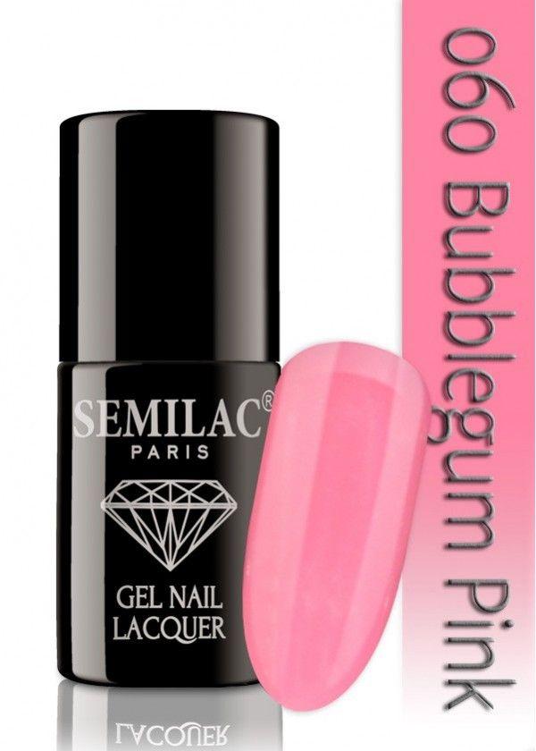 Semilac 060 Bubblegum Pink UV&LED Nagellack. Auch ohne Nagelstudio bis zu 3 WOCHEN perfekte Nägel!