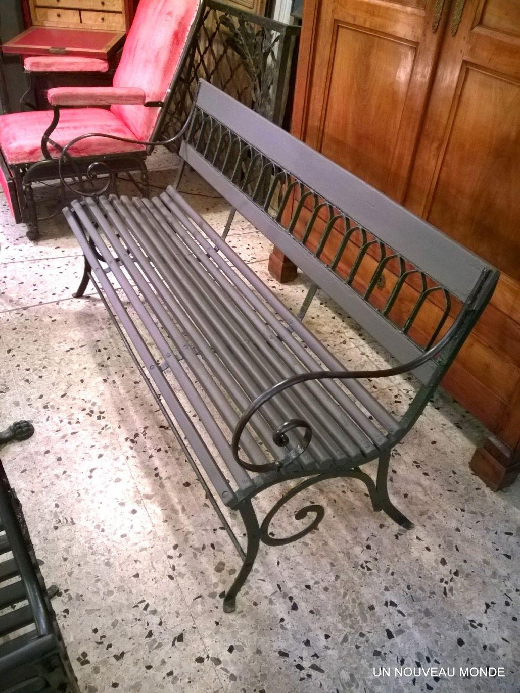 Spectaculaire Banc De Jardin Fer Forgé Et Bois Ma maison est mon ...