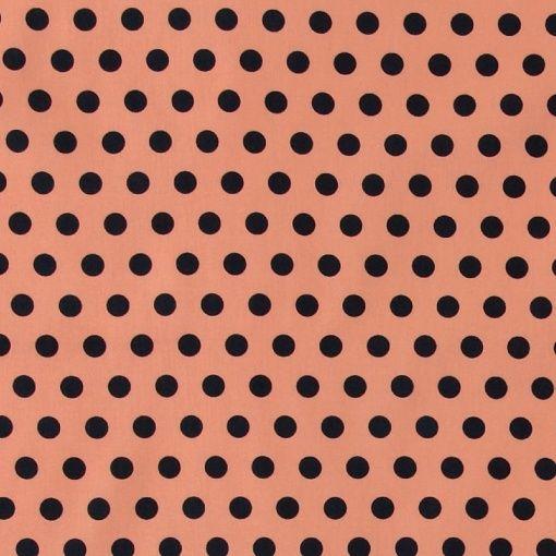 Baumwolle kleine Punkte Mathildas Popeline schwarz 142cm