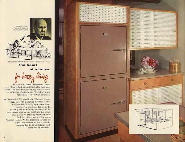 Revco Bilt-In refrigerators - 17 pages of designs from 1956 on harrison design homes, schult homes, green design homes, weber design homes, luxury homes, clark design homes, schultz design homes, 10 000sq foot homes,
