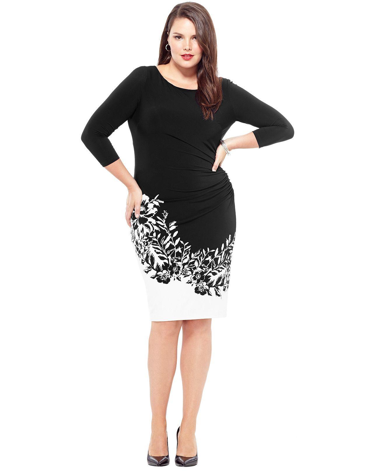 Plus Size Dress Diaries Desk To Dinner Black White Dress Look
