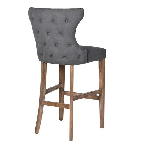 Martine Buttoned Bar Stool Furniture La Maison Chic Luxury Interiors Bar Stool Furniture Island Chairs Fabric Bar Stool