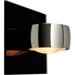 Photo of Oligo Grace Unlimited Wandleuchte, 230V, zwei Glasschalen Satin, Lampenkopf glänzend verchromt, Gl