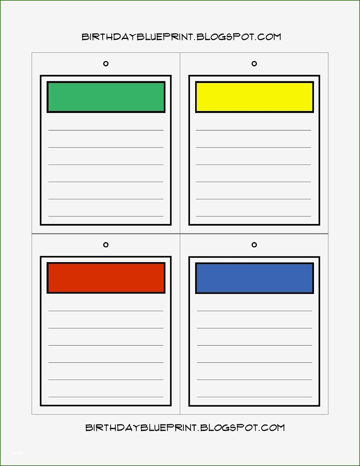 Foolproof Monopoly Property Cards Template Board Game Party Life Board Game Board Game Template