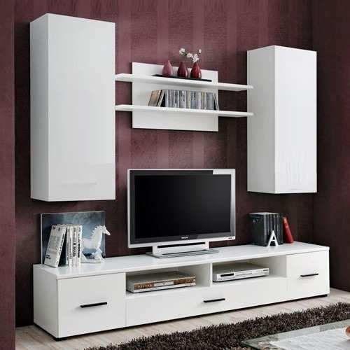 Mueble lcd mesa de tv vajillero modular led rack moderno for Muebles organizadores para living