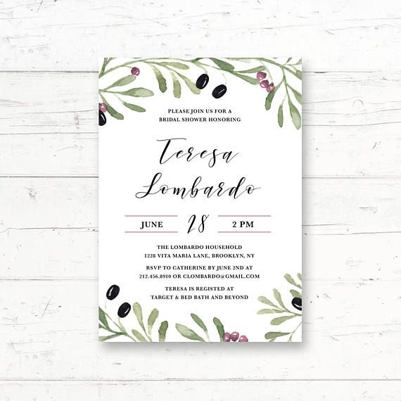 Tuscan mediterranean italian bridal shower baby shower tuscan mediterranean italian bridal shower printable invitation by crissydesignco filmwisefo