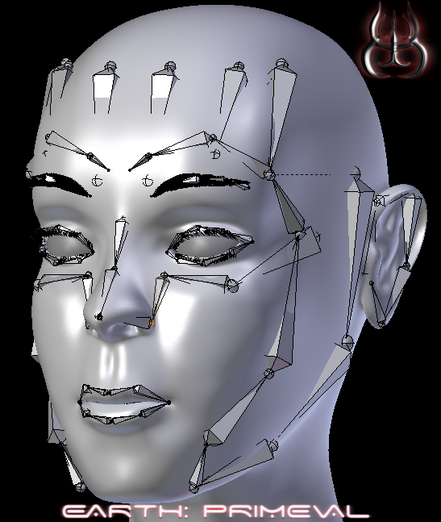 Facial rig using Rigify Master add-on for Blender 3D - Earth