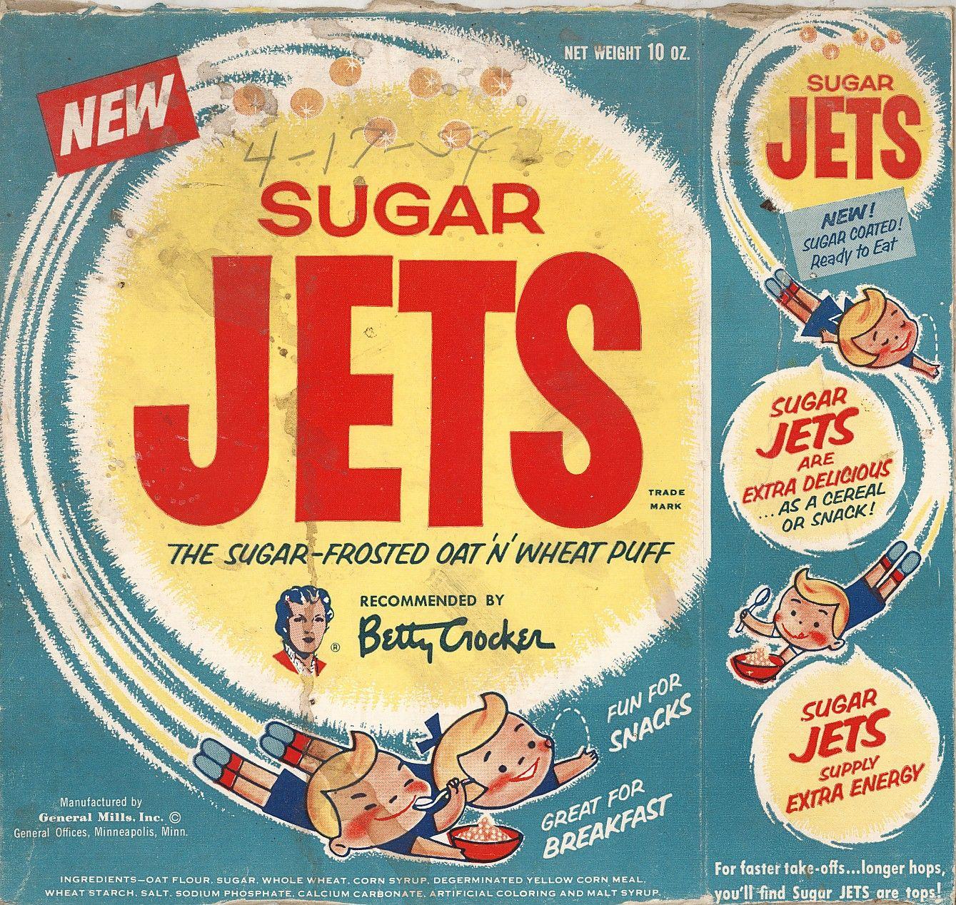 Sugar Jets So Many Primary Colors Vintage Food Products Space