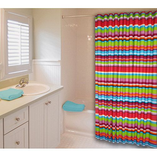 Kids Shower Curtains | Catalina Stripe Shower Curtain: Kidsu0027 U0026 Teen Rooms :  Walmart