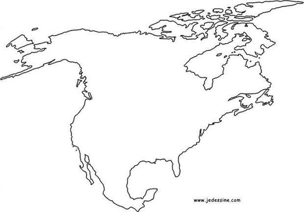 Carte Amerique Du Sud Colorier.Voici Le Coloriage De La Carte De L Amerique Du Nord