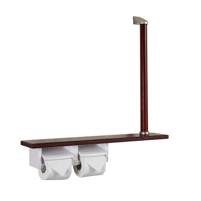 luxury red wood paper holder with shelf and grab bar tinajiang1990@foxmail.com