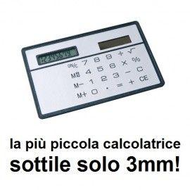 Calcolatrice tascabile ultrasottile carta di credito 8 cifre solare