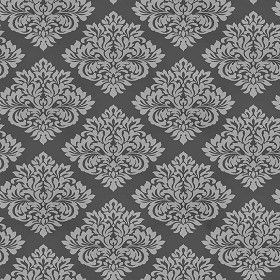 Black and White Victorian Damask GC29827 DOUBLE roll FREE SHIPPING