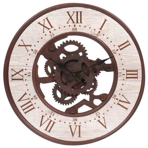 metalen klok met roesteffect d39 woonkamer horloge metal horloge maison du monde et maison