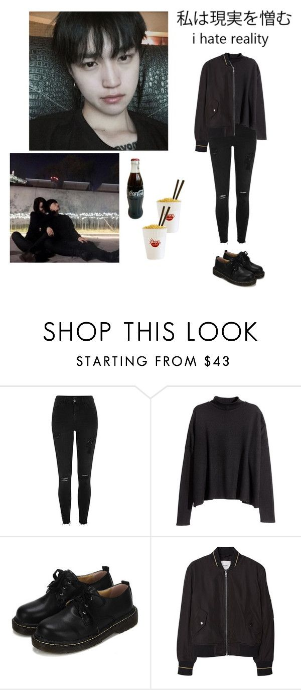 """Untitled #49"" by satansoowifeu ❤ liked on Polyvore featuring River Island, WithChic, MANGO and Suck"