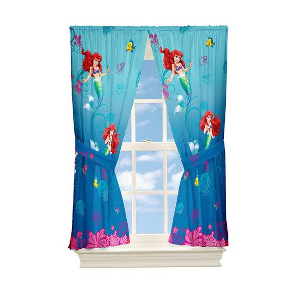 Marvelous Little Mermaid Home Decor Part - 2: Disney Little Mermaid Curtain Panels, Set Of 2 ? Liked On Polyvore  Featuring Home,
