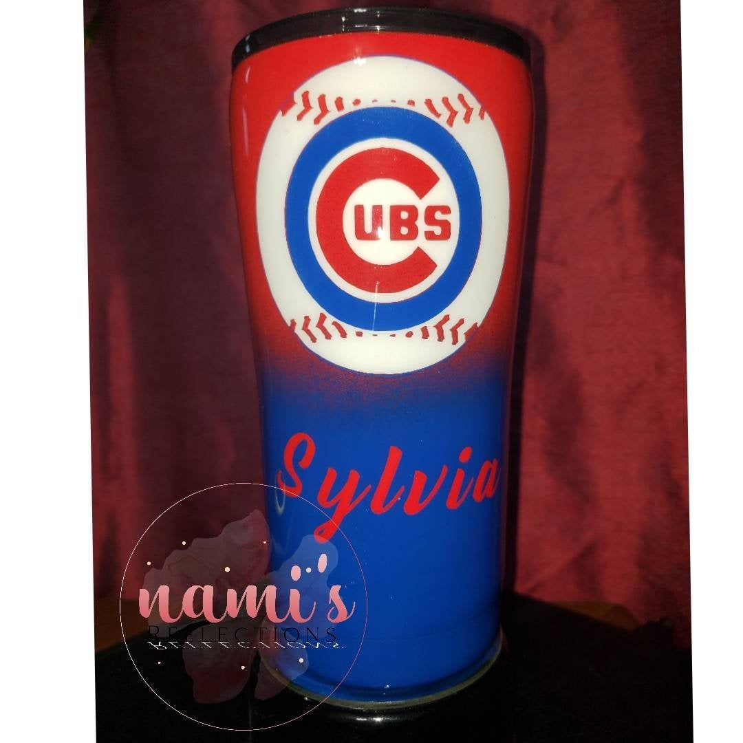 Chicago Cubs Tumbler By Namisreflections On Etsy Personalized Tumblers Custom Tumblers Resin Diy
