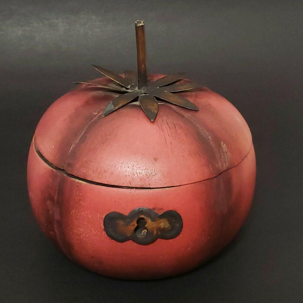 Palecek Wood Carved Tomato Red Hinged Box Original Label Rare Ebay In 2020 Trinket Boxes Carving Box Hinges