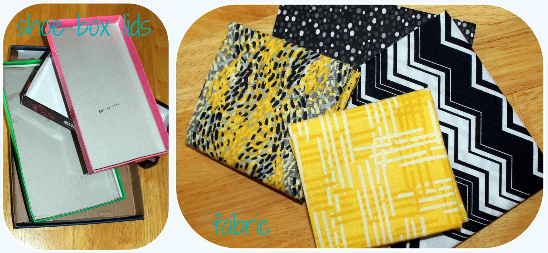 do it yourself {fabric covered shoe box lids}   Shoe box lids, Box ...
