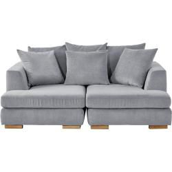 Photo of Soho Loveseat gray – woven fabric Paso Doble ¦ gray ¦ Dimensions (cm): W: 202 H: 80 D: 156 upholstered furniture> sofa
