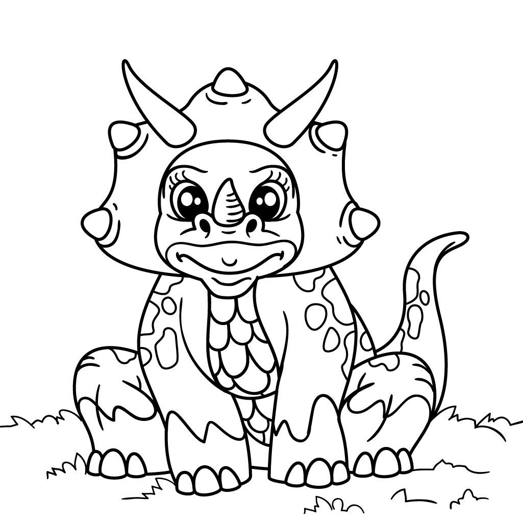 Dinosaur Coloring Pages for Kids Android, iPhone & iPad