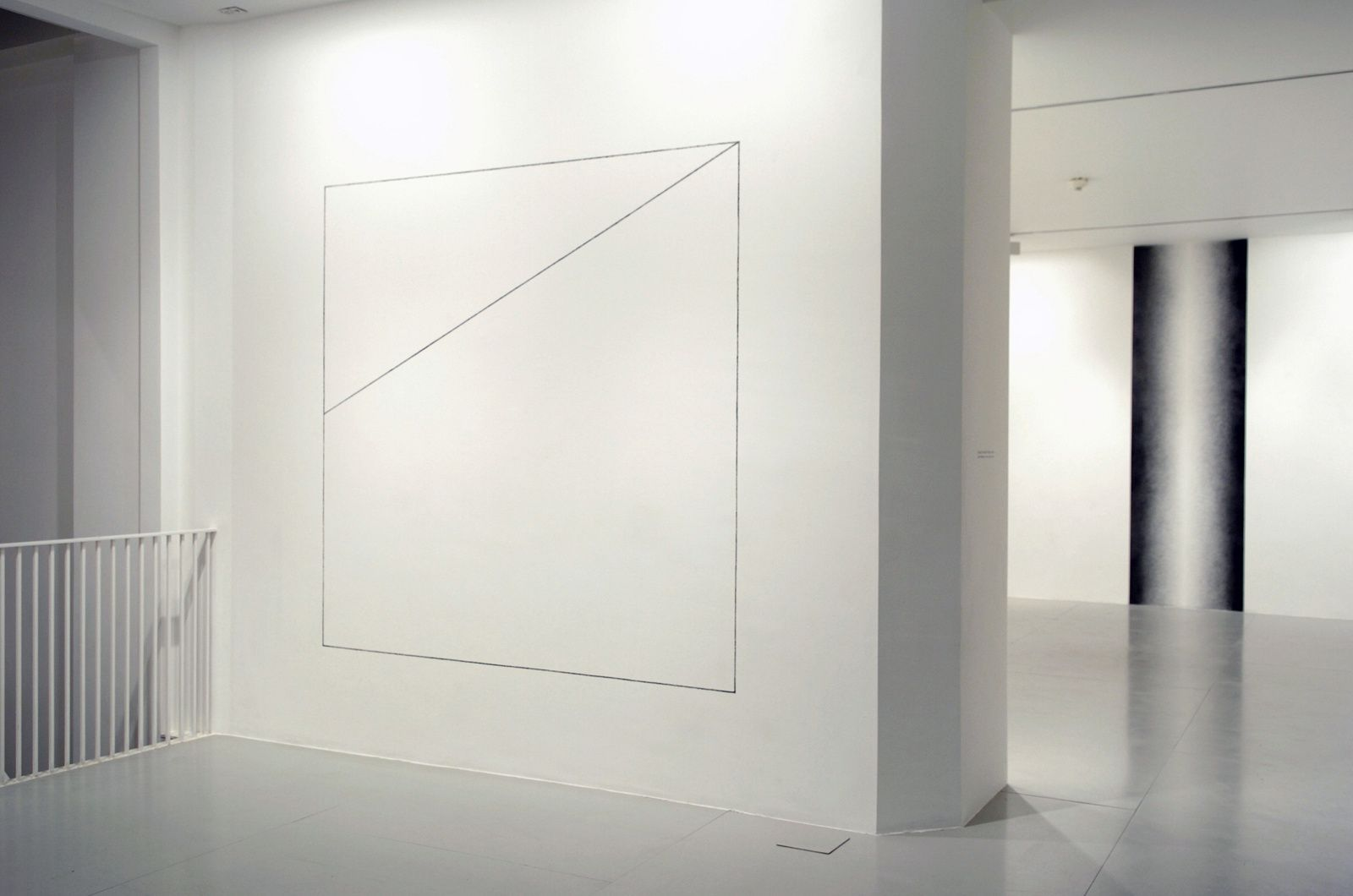 Wall Drawing No. 821 A square is divided horizontally and vertically into four equal parts, each with a different direction of alternating flat black and glossy black bands | Sol LeWitt | Artists | Lisson Gallery