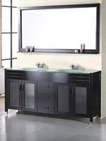Glass Bathroom Vanities In Multiple Styles Double Sink Vanity 72 Double Sink Vanity Double Vanity Bathroom