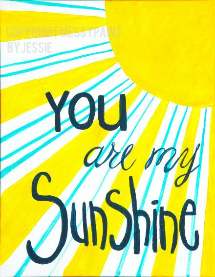 SALE/You Are My Sunshine/ wall art/ nursery/8x10 by messypaint, $10.00