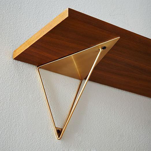 West Elm Floating Shelves mid-century shelving + prism bracket set | west elm: | industrial
