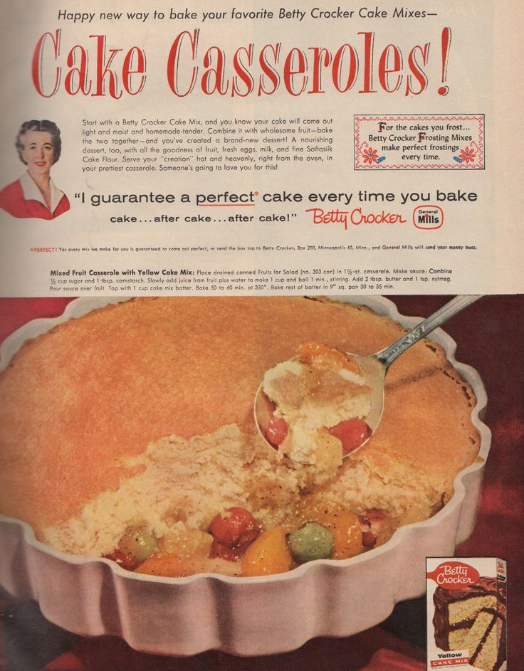 This retro casserole recipe is from a 1952 booklet put out by the California Foods Research Institute. Description from pzrservices.typepad.com. I searched for this on bing.com/images